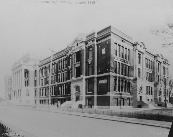 Germantown High School was built in 1914, making it one of the oldest schools in the United States. Photo courtesy of the Germantown Historical Society.