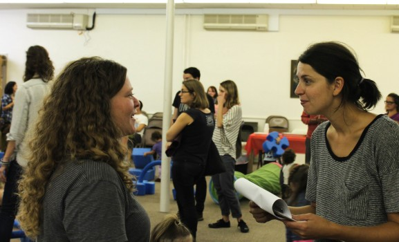 Fishtown PLayschool Board Members, Kate Hughes and Yasmin Hassan talk about the competition to win the equipment.