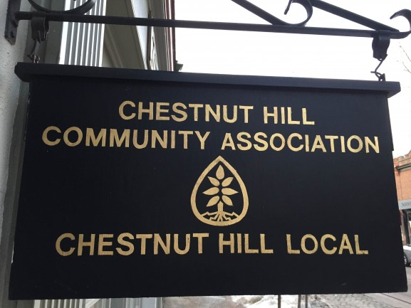 Chestnut Hill Community Association sign