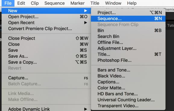 new-sequence-through-menu
