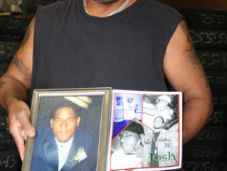 Cecil holds close to his heart his son's images.