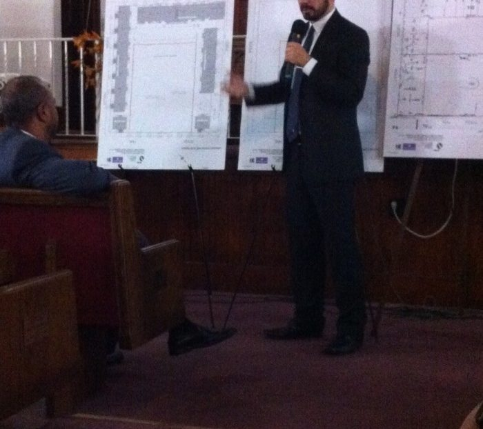 Kyle Flood explains the housing units on pulaski