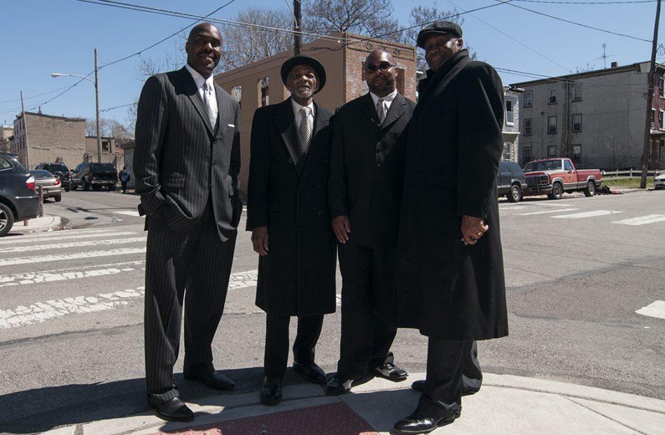 A group of men on a corner