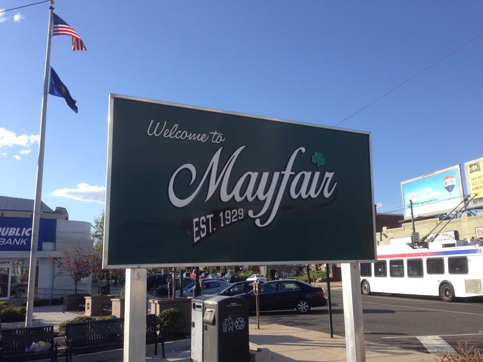 Mayfair Sign