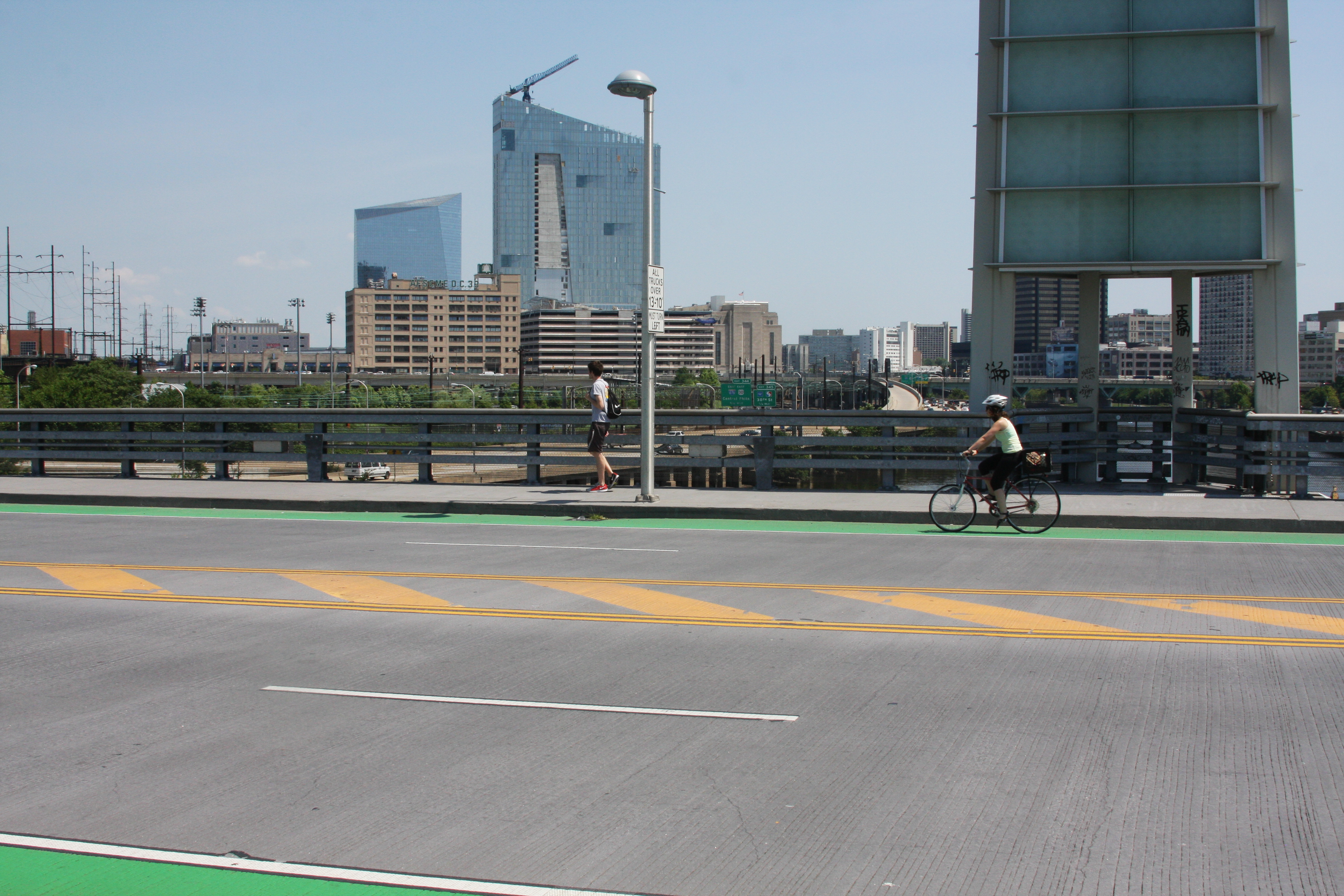 South St Bridge Biker
